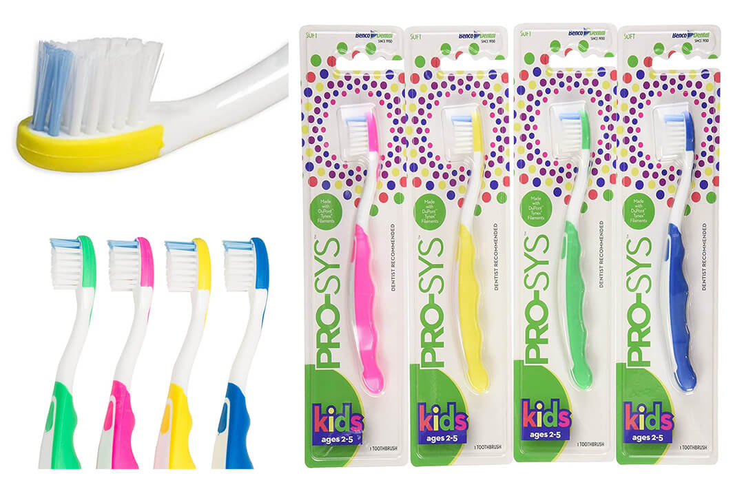 PRO-SYS® Kids Toothbrush (Colorful 4-Pack)