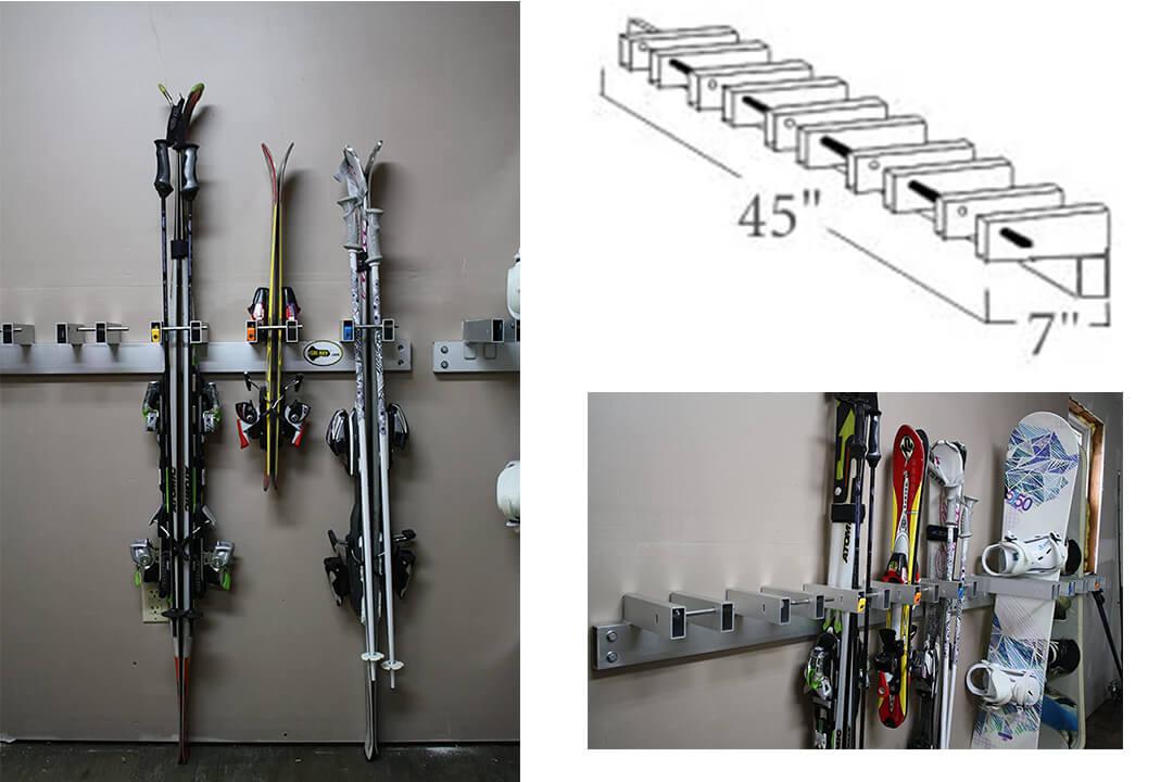 Ski Rack Wall Unit