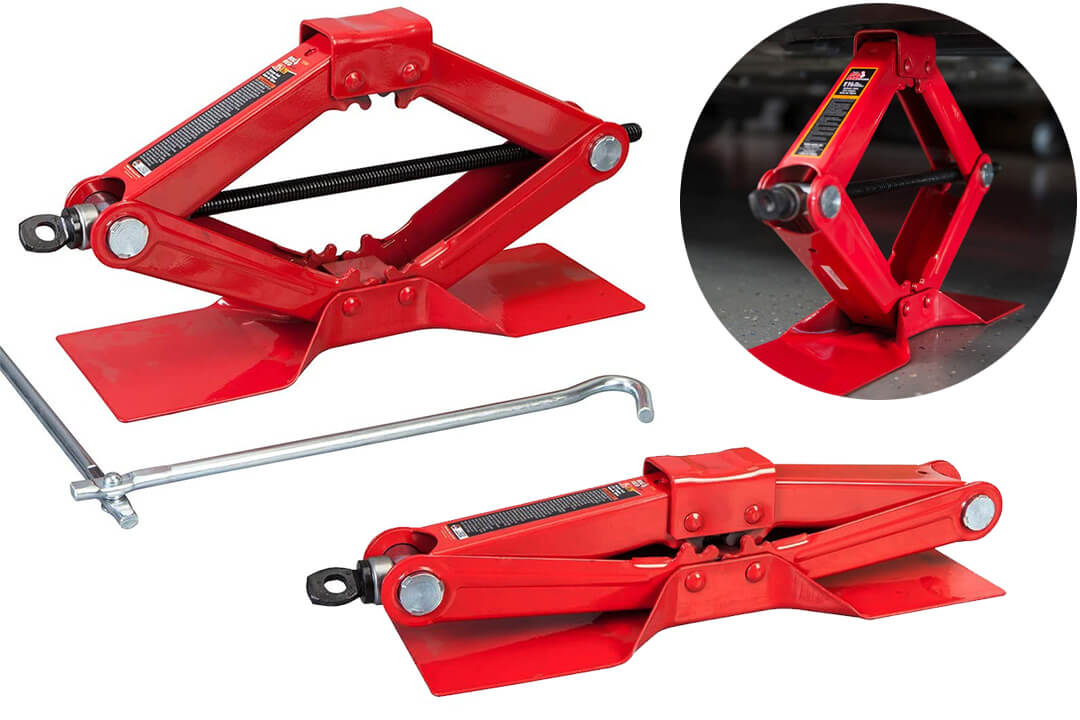 Torin Big Red T10152 Steel Scissor Jack, 1.5 Ton (3000 lb) Capacity