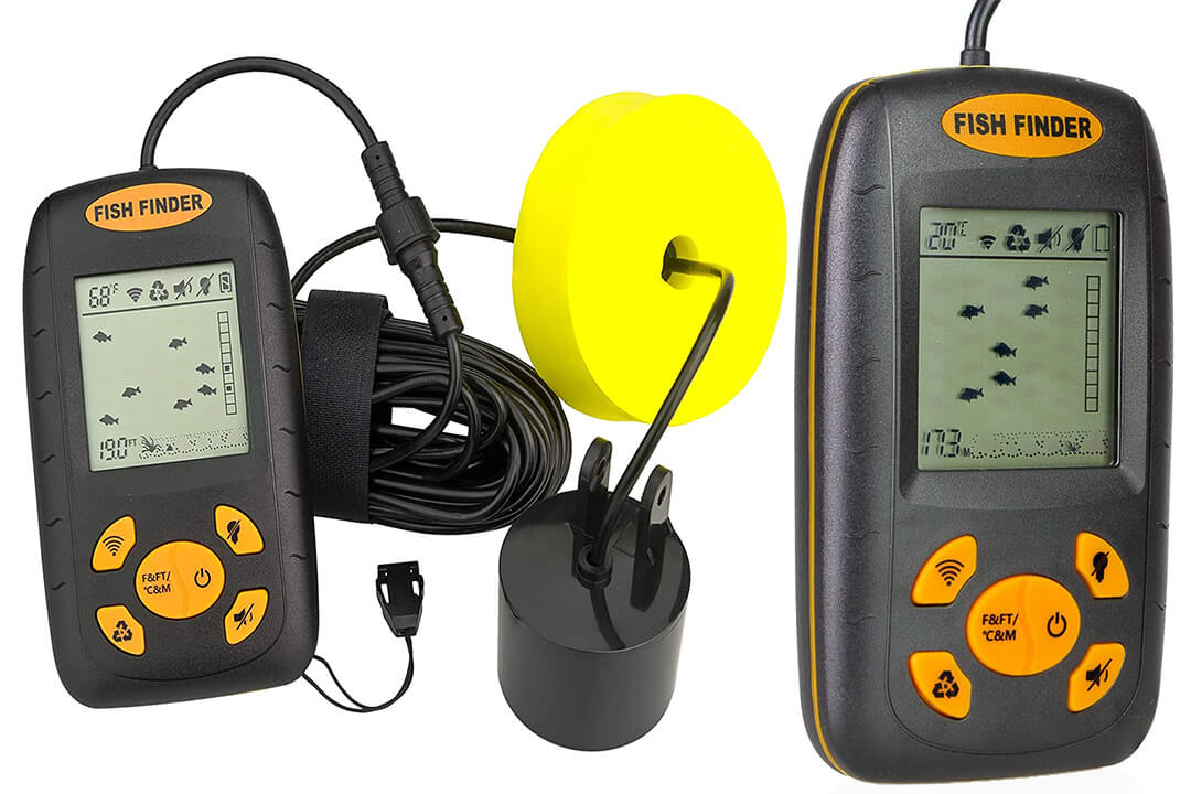 Venterior Portable Fish Finder with Wired Sonar Sensor Transducer