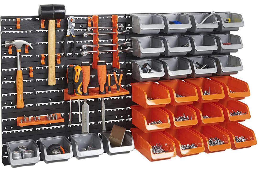 VonHaus 44 Piece Wall Mounted DY Garage Storage System