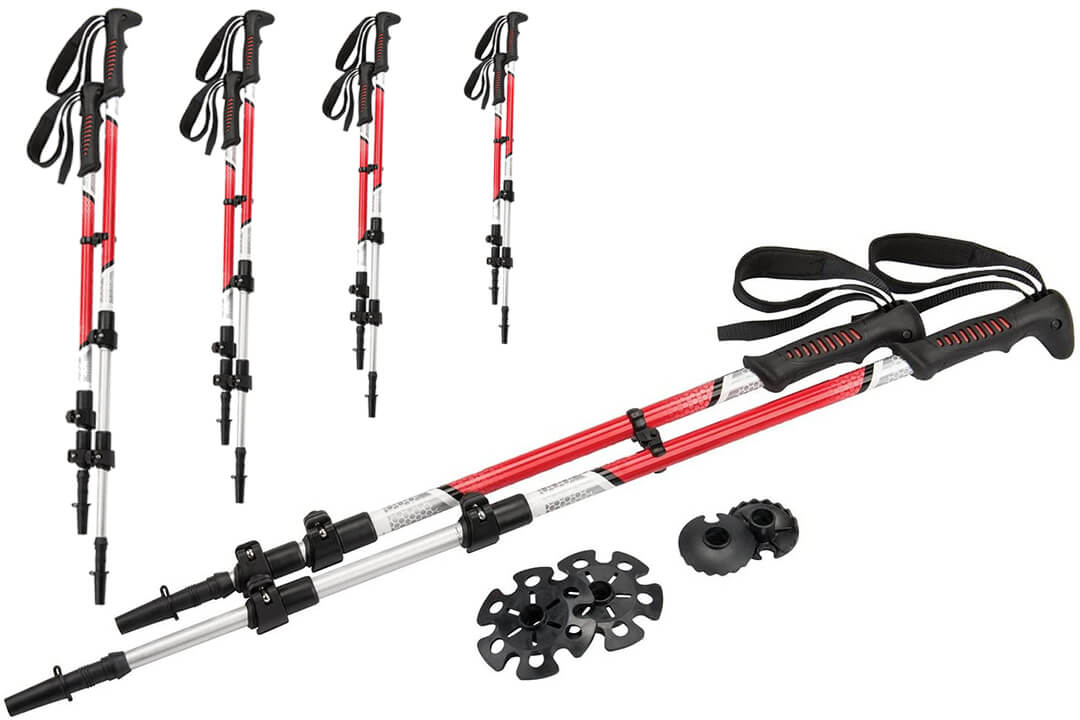 Yukon Charlies Pro Trekker II Adjustable All-Season Snowshoe Trekking Poles