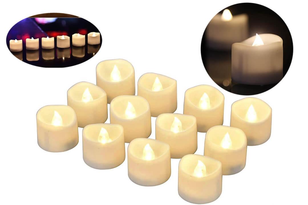 eLander LED Tea Lights Flameless Candle with Timer, 6 Hours on.jpg